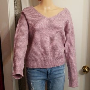 ANGEL OF THE NORTH' SEXY  PINK CROP SWEATER